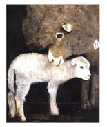 Dolly Estrelle Mother's Love Sheep Lamb Beautiful Vibrant 11x14 Art Prin... - $14.99