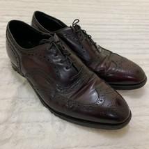 Johnston & Murphy Heritage Men's Shoe Burgundy Size 10 B Wingtips - $37.99