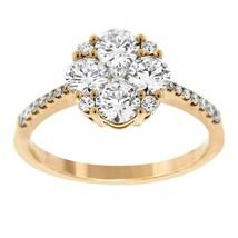 NWT GLK 14K ROSE GOLD 1.33CT DIAMOND FLOWER RING SIZE 7 - £2,067.05 GBP
