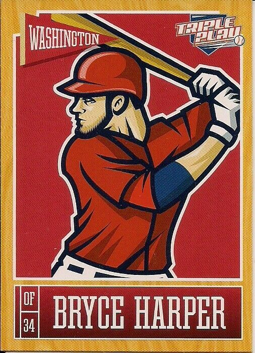 Primary image for 2013 Panini Triple Play #89 Bryce Harper Washington Nationals Baseball Card