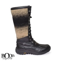 UGG ADIRONDACK TALL COLD WEATHER BLACK WATERPROOF SHEEPSKIN BOOTS SIZE U... - $4.371,89 MXN