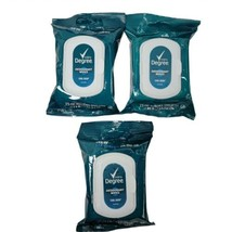 3x Degree Men Deodorant Wipes Cool Rush 25 ct Pre Moistened Towelettes O... - $17.99