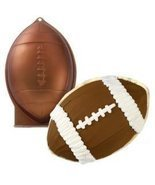 "Novelty Cake Pan-Football 12""X7.75""X3"" Metal - £13.50 GBP"