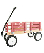 HOT PINK BERLIN FLYER CLASSIC Wooden No Tip WAGON -  MADE in the USA - $225.37