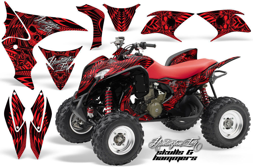ATV Decal Graphic Kit Wrap Quad Stickers For Honda TRX 700XX 2009-2015 HISH RED
