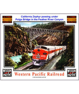 WESTERN PACIFIC RAILROAD TIN SIGN / collectible / train - $21.28