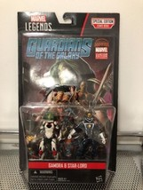 MARVEL LEGENDS GUARDIANS OF THE GALAXY GAMORA & STAR LORD 4'' 2-pack wit... - $19.79
