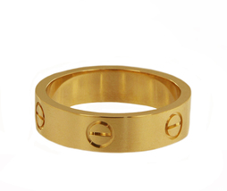 Cartier 18k Yellow Gold Love Band Ring 6 mm_68 size - $1,400.00