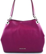 AUTHENTIC NEW NWT MICHAEL KORS $298 LEATHER RAVEN PURPLE GARNET TOTE - $168.00