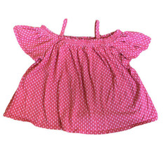 Gymboree Girls Top Elastic Off The Shoulder With Straps Baby Doll Size L 10-12 - $9.89