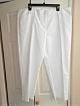 New Liz Claiborne White Pants Trouser Sits at Waist Sz 14 Retail $48 Wid... - $14.71