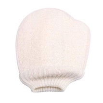 Bath Gloves Double-side Body Brush Loofah Bath Brush Sponge Bath Supplies White