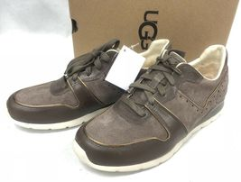 Ugg Australia Deaven Mouse Gold Suede Lace Up Shoes Tennis Sneakers 1019655 image 8