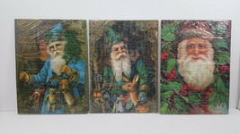 """Santa Puzzles - Set Of 3 Vintage - 11"""" x 8"""" - New Shrink Wrapped - Taiwan - $23.36"""