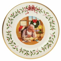 Lenox 2016 Santa Holiday Collectors Plate Annual Making A List Christmas... - £33.80 GBP