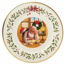 Lenox 2016 Santa Holiday Collectors Plate Annual Making A List Christmas... - $54.45