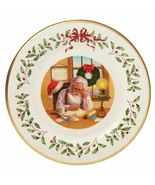 Lenox 2016 Santa Holiday Collectors Plate Annual Making A List Christmas... - $54.45