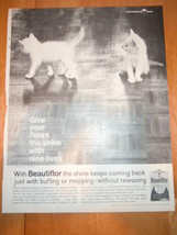 Vintage Beautiflor Johnson's Wax Print Magazine Advertisement 1961 - $6.99