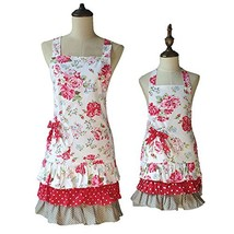G2PLUS Lovely Classic Style Red Floral Pattern Three Ruffles Mama-Kid Gi... - $33.39