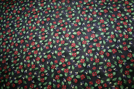 GARDEN GLORY-DER FLOWERS ON BACK FROM RJR -100% COTTON FABRIC - $7.91
