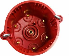 Red Pro Series Distributor Cap, Rotor Kit 6-Cylinder Male image 5