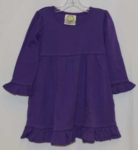 Blanks Boutique Purple Long Sleeve Empire Waist Ruffle Dress Size 18M
