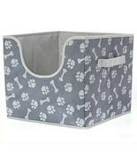 Top Paw Easy Collapsible Folding Dog Toy Storage Box 12x12x11 Bones Whit... - $30.00