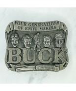 Smoky Mountain Knife Works Silver Tone Vintage Buck Knives Makers Belt B... - $15.47