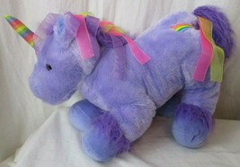 "Unicorn Plush Toys R Us Purple 18"" Stuffed Animal Rainbow 2016 - $21.77"