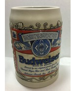 Ceramarte Budweiser Beer Stein Vintage MUG King Of Beers Made in Brazil - $15.99