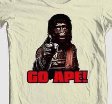 Planet of the Apes T-shirt 1970s GO APE retro original movie 100% cotton tee image 1