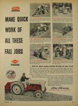 1954 Ford Tractor & Implements Make Quick Work of Fall Jobs Print Ad - $9.99