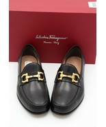 NIB Salvatore Ferragamo Mens Bond Gancini Bit Black Leather Loafers 10 4... - $345.00