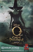Oz The Great and Powerful 11x17 Movie Poster Single-Sided, new - $6.95