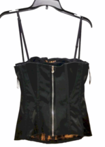 Dolce & Gabbana Women Black Satin Bustier Top Size 42 Made in Italy image 4
