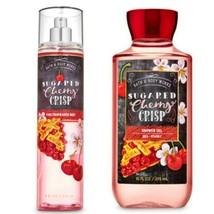 2 Pc. Bath & Body Works Sugared Cherry Crisp Fragrance Mist & Shower Gel... - $23.36