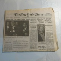 The New York Times 1996 December 14 Clinton Reno Ghanaian Kofi Annan ND - $39.99