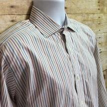 Robert Talbott Mens 15 1/2 Bespoke Pastel Striped French Cuff Dress Shirt - €18,22 EUR