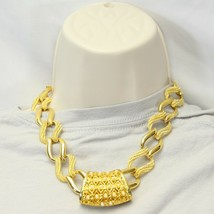"Napier Gold Tone Choker Necklace 18"" - $24.49"