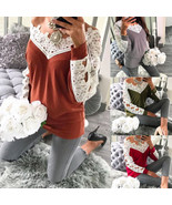 "Fashion Women""s Ladies Long Sleeve Blouse Casual Loose Sexy Off Shoulder... - $39.00"