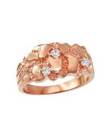 10K Rose Gold Elegant CZ Nugget Ring - $269.99