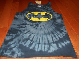 New Dc Comics Men's Batman Tie Dye Tank Top T-Shirt Black Sexy Nwt Hot Tye M - $14.84