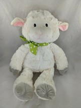 "Animal Adventure Sheep Lamb Plush 17"" Cream Green Ribbon 2018 Stuffed Animal Toy - $19.95"