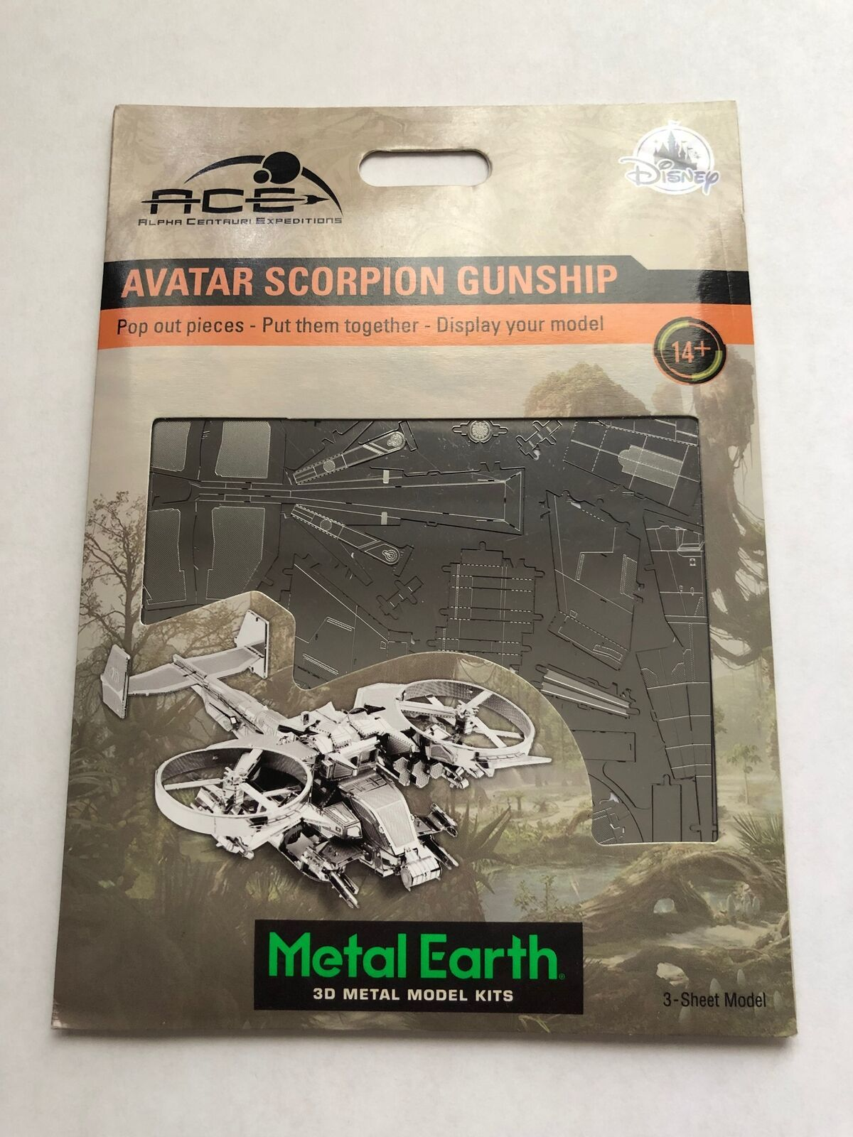 Disney Parks Avatar Scorpion Gunship Metal Earth Model Kit 3D New
