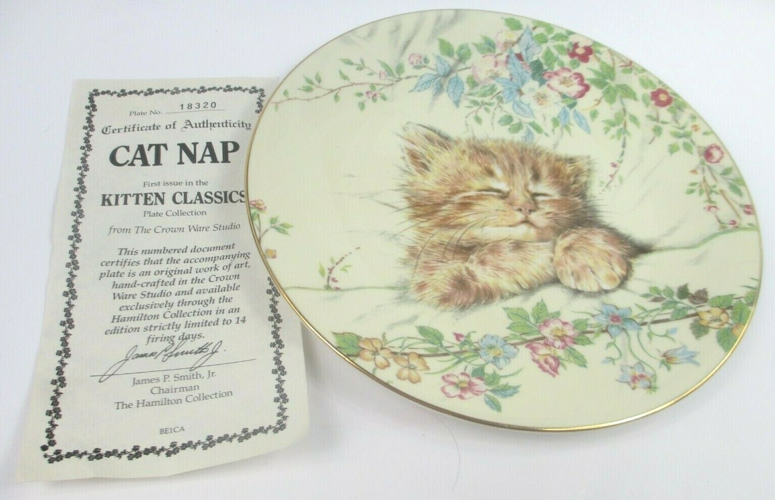 Royal Worcester Crown Ware LITTLE RASCAL KITTEN CLASSICS Cat Collectors Plate