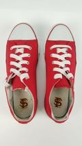 San Francisco SF Unisex Adult Converse Slip On Shoes Size 8m Red Campus Footnote image 9