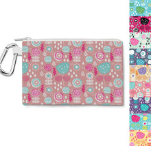 Winter Poppy Garden Canvas Zip Pouch - $15.99+
