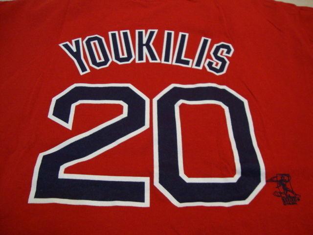 f51da7327 MLB Boston Red Sox Major League Baseball Fan Kevin Youkilis  20 Red T Shirt  L