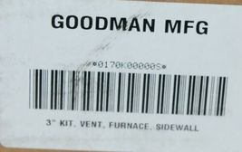 Goodman Three Inch Vent Furnace Sidewall Horizontal Vertical Installation image 6