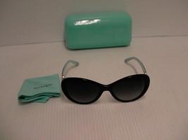 Femmes Tiffany Nouvelles Lunettes de Soleil Tf 4059 Chat D'Oeil Gris Verres - $209.84